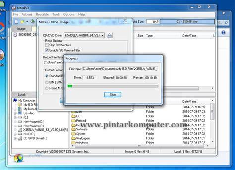 cara membuat file iso dari file dengan ultraiso cara mudah membuat file iso dari cd dvd menggunakan