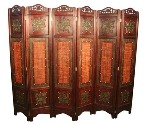 Asian Room Divider Vintage Style 6 Panels Screen Room Divider Ebay