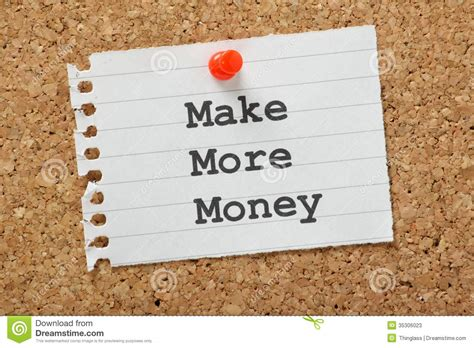 Paper Used To Make Money - make more money stock photos image 35306023