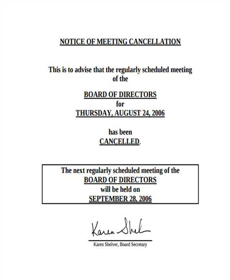 sle conference schedule template business letter meeting cancellation 28 images sle