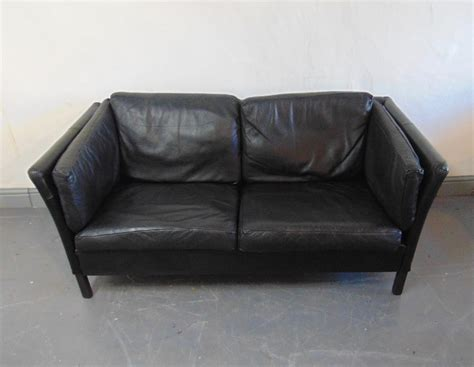 Kingdom Of Leather Sofas 1960 S Vintage Black Leather