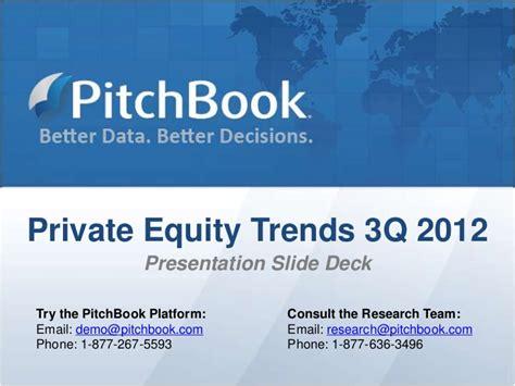 Pitch Book Pe Trends 3q2012 Presentation Deck Pitch Book Ppt