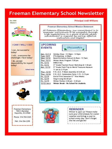 School Newsletter Template 3 Free Templates In Pdf Word Excel Download Newsletter Outline Template