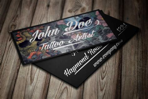 tattoo business card template by borce markoski at