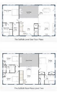 Floor plans 2 story barndominium plan home style barndominiums