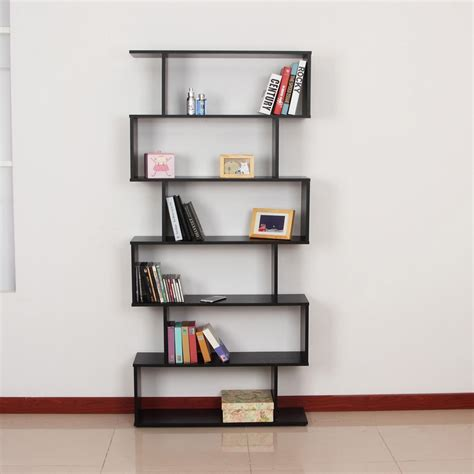 modern bookcase s shape unique wooden bookshelf book dvd