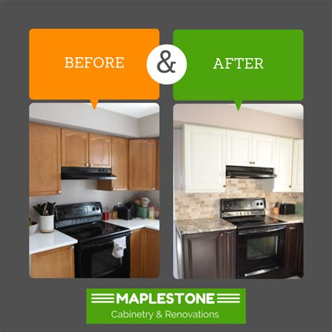 Kitchen Refacing Cabinets before amp after osgoode kitchen maplestone cabinetry