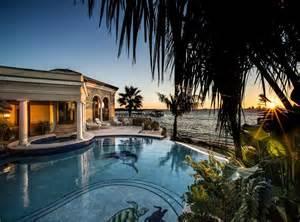 Travertine Backyard Luxury Waterfront Estate Home For Sale Pensacola Florida