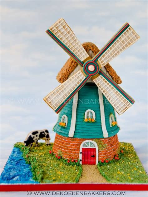Edible Garden Cake Decorations 74 Best Images About Windmill Cakes On Pinterest