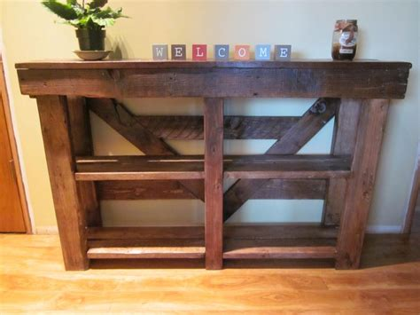 Sofa Table Made From Pallets Sofa Table Made From Reclaimed Pallet Wood Pallets