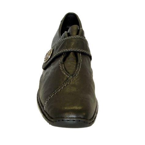 reiker l3870 00 swanky black leather velcro fastening