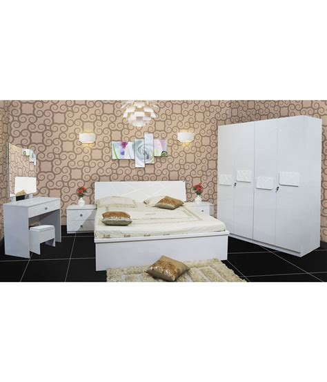 king size white bedroom sets bedroom set with king size in white buy online at best