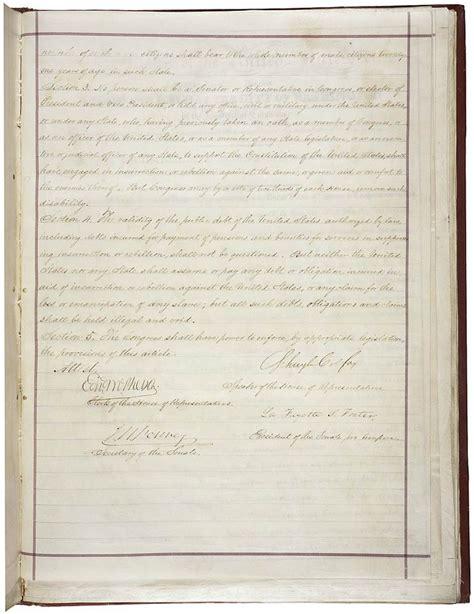 14th amendment section 2 summary 14th amendment to the constitution u s amendment xiv