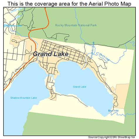 grand in colorado map aerial photography map of grand lake co colorado
