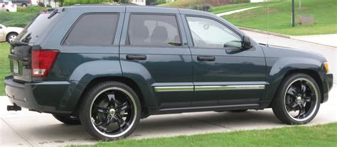 lowered jeep grand lowered jeep grand grand srt 8 eibach