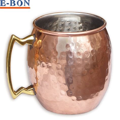 Metal Kitchen Canisters hammered copper plated stainless steel copper moscow mule