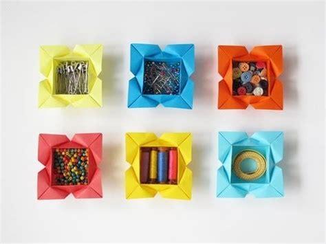 Origami Petal Box - tutorial for an origami petal box