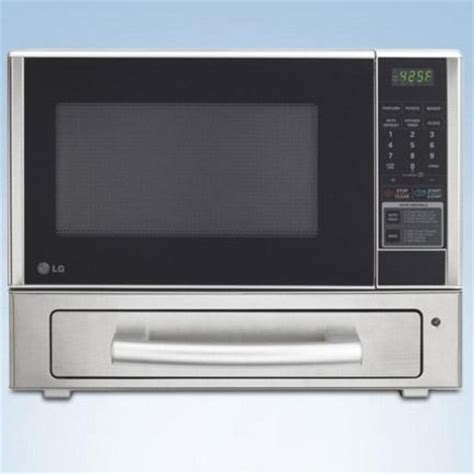 lg 1 1 cu ft countertop microwave with baking drawer