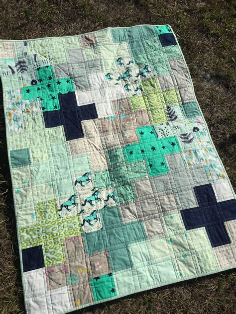 cotton steel plus quilt for baby blogger s quilt
