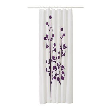 Ikea Rosenfibbla Shower Curtain White Floral Pattern Ikea Dramselva Fabric Shower Curtain Lilac Purple Floral