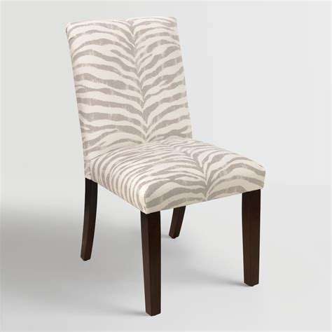 Zebra Dining Chairs Tropo Cloud Zebra Stripe Kerri Upholstered Dining Chair World Market