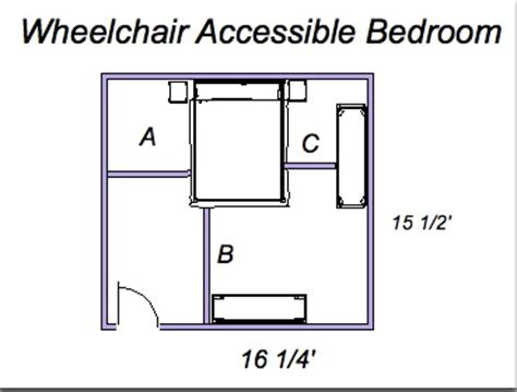 Bedroom Size For Wheelchair User Ada Universal Design What Size Is A Wheelchair Accessible