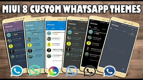 whatsapp themes new miui 8 themes new whatsapp look with each theme 2017