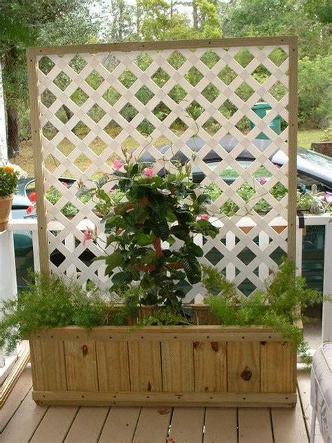 trellis planter box diy easy planters