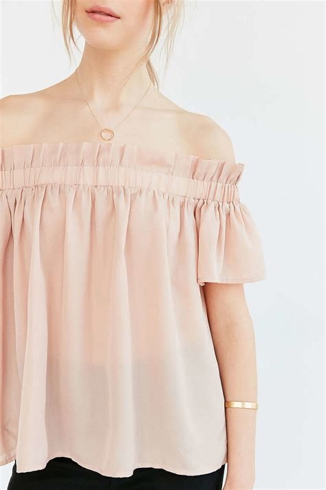Simple Askley Blouse Dodshop the shoulder ruffle blouse lace henley blouse