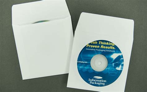 Magic Cd Envelope White cd dvd envelope plain white 8pt paperboard with window and flap archives bank cards dvds
