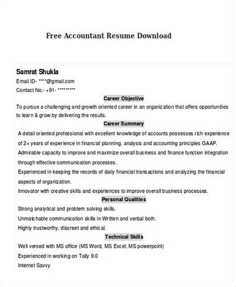 Bilingual Accountant Cover Letter by Boost Your Career With Accountant Resume Template