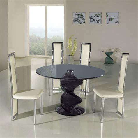 Swirl Glass Dining Table Dining Table Swirl Glass Dining Table
