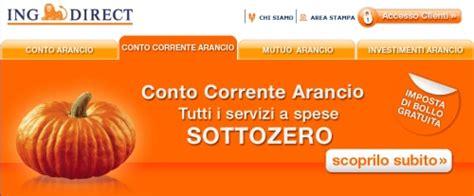 banca conto arancio ing direct conto corrente versamenti funziona