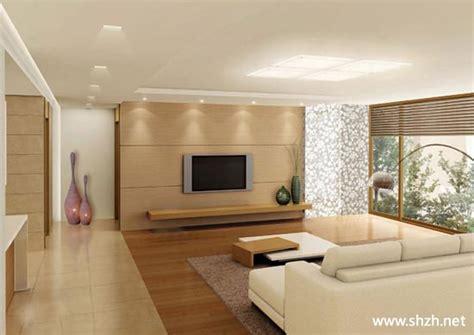 Brown Modern Family Room Living 客厅电视柜背景墙 上海装潢网