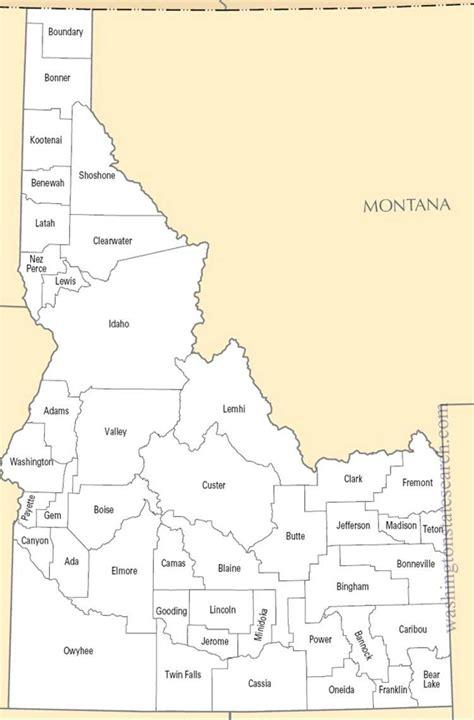 idaho county map map of idaho counties afputra