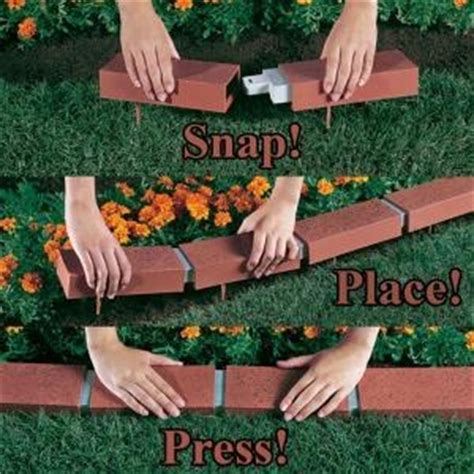 home depot decorative bricks argee landscaping supplies 25 ft decorative plastic brick