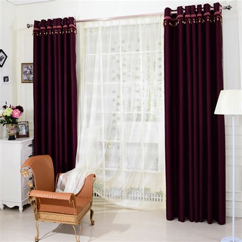 Dark Purple Window Panels Curtains In Cool For Blackout