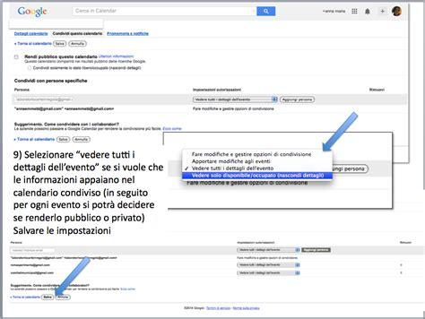 Calendario G Mail Istruzioni Condividere Calendario Gmail