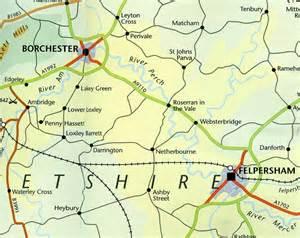fictional map of ambridge borchester district the