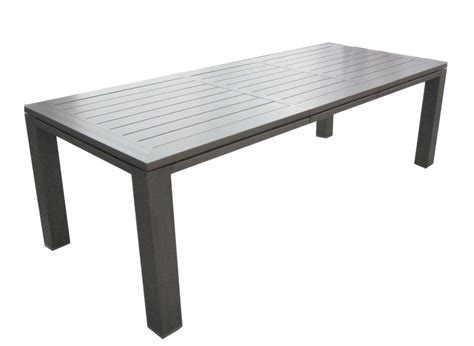 table de jardin en aluminium table de jardin aluminium 180 240cm oc 233 o proloisirs