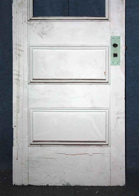 3 Panel Glass Interior Door Half Glass Wood Three Panel Door Olde Things