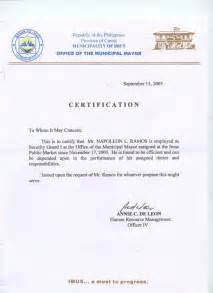 Request Letter For Certification Of Employment Sample Request Letter For Certificate Of Employment Nurses Cover Letter Templates