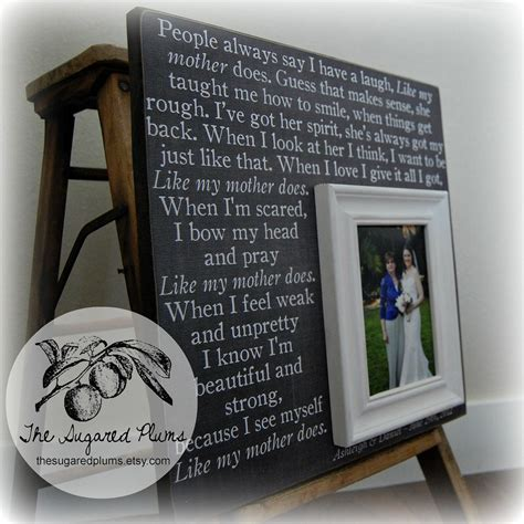 unique gifts for mom mother of the bride gift personalized picture frame wedding
