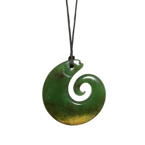 new zealand jade koru fish necklace mountain jade new