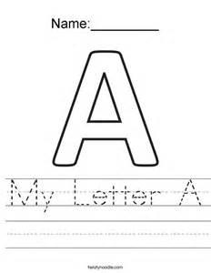 my letter a worksheet twisty noodle