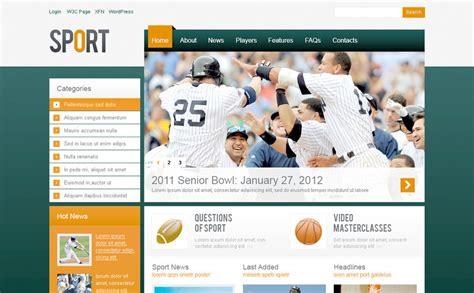 psd sports templates sport psd template 57302
