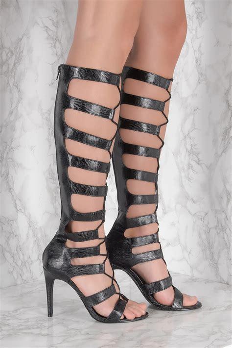 Highheels Gladiator gladiator high heels black na kd