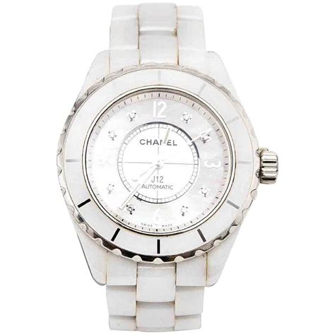 Chanel J12 Silver White Ceramic chanel j12 h2423 white ceramic for sale at 1stdibs