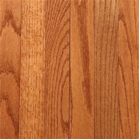 bruce gunstock oak   thick     wide  random length solid hardwood flooring  sq
