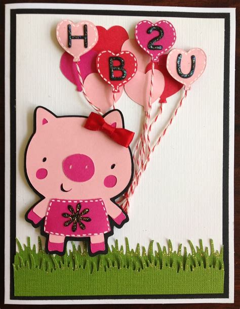 Pig Birthday Card Pig Birthday Card Pinterest